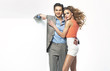 Fantastic young couple in new collection