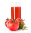 Tomato vegetable juice in glass