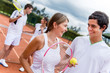 Tennis couple at the court