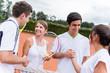 Tennis handshake
