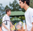 Male tennis players