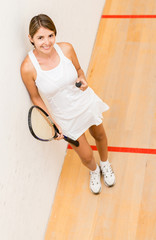 Female squash player