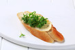 Bread with butter and cress