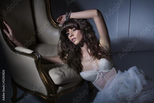 Fine fashion photo of alluring girl