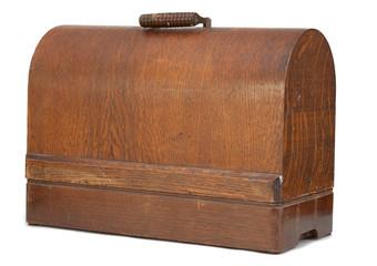 Antique sewing machine case