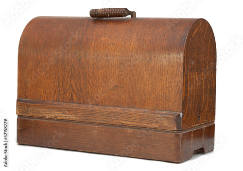 Antique sewing machine case