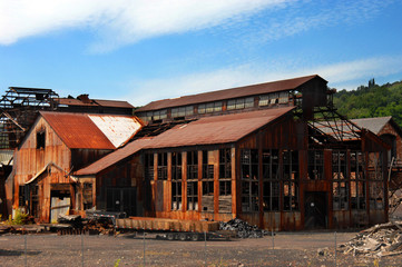 Buildings Rusting at Quincy Smelter