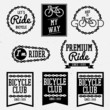 bicycle club badges back and white collection