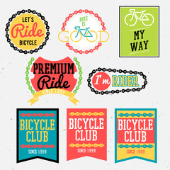 bicycle badges bicycle club badges colorful collection