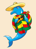 Dolphin and guitar