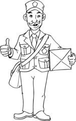 postman hand drawn
