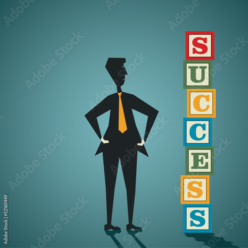 success word block stock vector