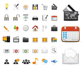Icons Set for Web Applications, Internet & Website icons