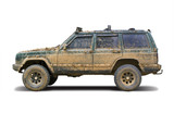 Mud-splattered SUV