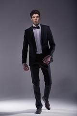 Elegant  young model wearing suit