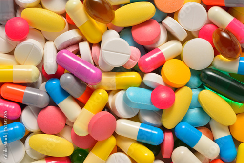 Many colorful medicines