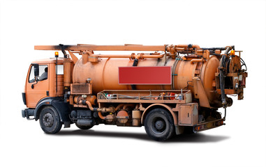 Truck for sewer cleaning