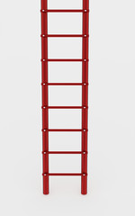 Red ladder on white