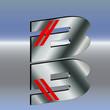 Logo power B 3d