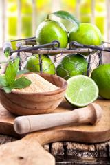 frische Limetten - Zutaten für Caipirinha