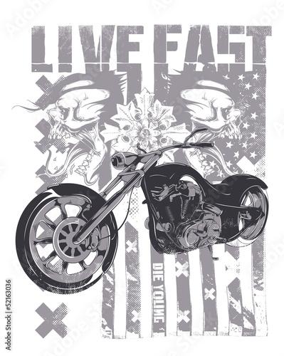 Live Fast © Tshirt-Factory.com