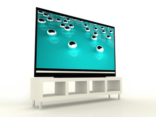 Plasma TV with beautiful tirkis