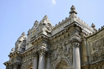 Details of Baroque Architecture at Dolmabahce Palace