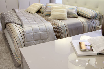 Detail of a stylish bedroom