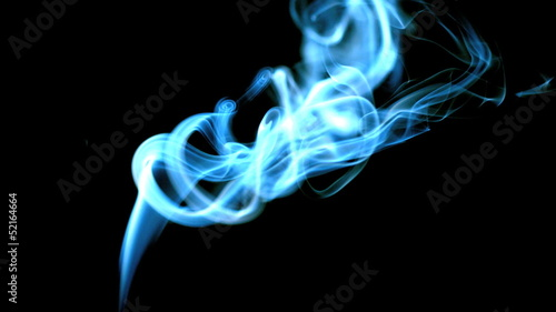 Blue smoke design rising