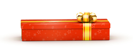 Long red gift box