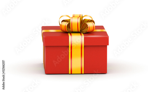 Sqaure red gift box