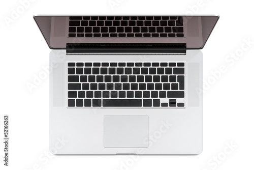 Top view of modern retina laptop.