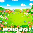 summer holidays  meadow and sky background
