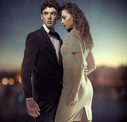 Fantastic photo of stylish great couple