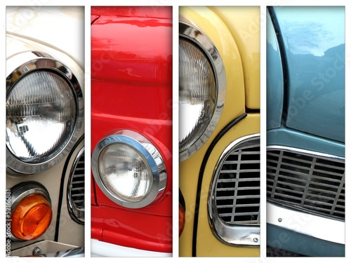 old car details - lamps collection