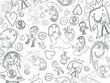 children pencil scribbles background