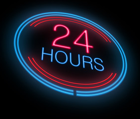 Open 24 hours.