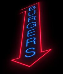 Burgers sign.