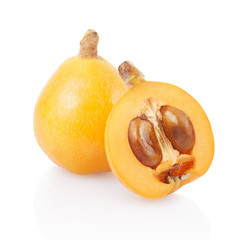 Loquat isolated on white, clipping path included