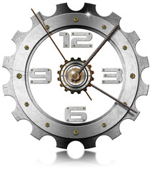 Gear Metallic Clock