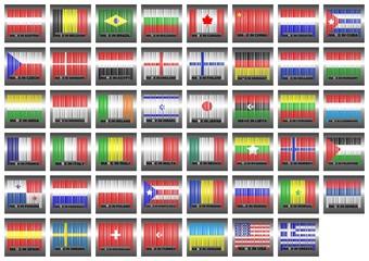 Códigos barras de países.
