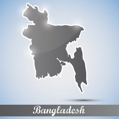 shiny icon in form of Bangladesh