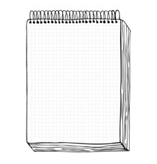 Vector illustration with hand drawn leaf of notebook