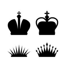 Set of different crowns