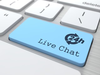 Service Concept - The Blue Live Chat Button.