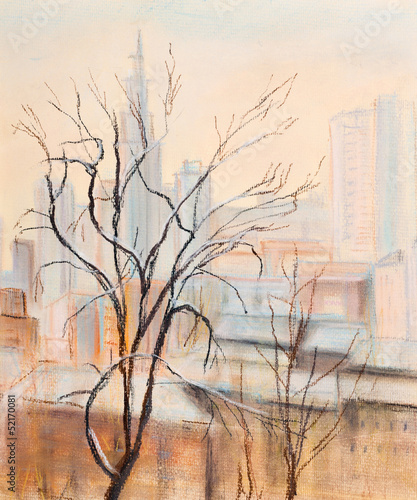Tree and city