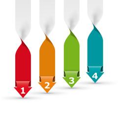 Vector faq labels, four option