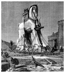Trojan Horse - Greek Antiquity - Cheval de Troie