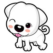 A wink cute puppy mascot. Animal Character Design Series.