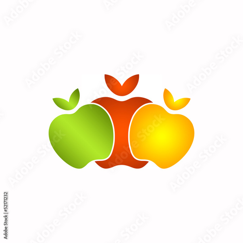 3 Apples Logo